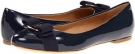 Oxford Blue Patent Salvatore Ferragamo Varina for Women (Size 6.5)