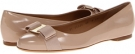 New Bisque Patent Salvatore Ferragamo Varina for Women (Size 6.5)