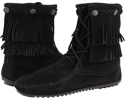 Double Fringe Front Lace Boot Women's 5