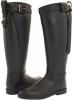 Black Equestrian Buckle Strap Rainboot Women's 5