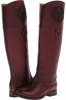 Burgundy Smooth Full Grain Frye Melissa Logo for Women (Size 7)