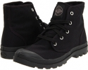 Black/Black Cow Silk Palladium Pampa Hi for Women (Size 7)