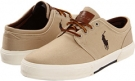 Khaki Canvas Polo Ralph Lauren Faxon Low for Men (Size 9.5)