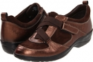 Copper/Chocolate Metallic Suede Softspots Alice for Women (Size 7)