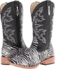 Zebra Glitter Boot Square Toe Women's 5