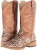 Roper Zebra Glitter Boot Square Toe Size 10