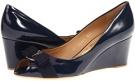 Oxford Blue Patent Salvatore Ferragamo Sissi for Women (Size 7)