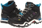 Solid Grey/Black/Vivid Teal adidas Outdoor Terrex Fast R Mid GTX for Women (Size 5)