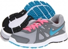 Wolf Grey/Cool Grey/Digital Pink/Neo Turquoise Nike Revolution 2 for Women (Size 5.5)