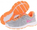 Wolf Grey/Atomic Orange/White/Red Violet Nike Revolution 2 for Women (Size 5.5)