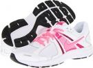 White/Fusion Pink/Metallic Silver/Digital Pink Nike Dart 10 for Women (Size 5.5)