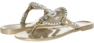 Platinum/Silver Jack Rogers Georgica Jelly for Women (Size 5)