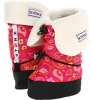 Paisley Pink/Fuchsia Stonz Booties Linerz for Kids (Size 4)