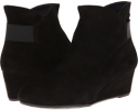 Black Suede/Black Elastic/Mtch Zip Vaneli Lana for Women (Size 4.5)