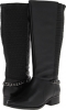 Black Napa Cow Leather/Stretch Fitzwell Mariana Wide Calf for Women (Size 5)