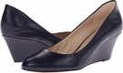 Navy Leather Nine West Mela for Women (Size 7)