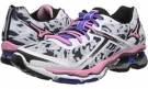 White/Sea Pink/Dazzling Blue Mizuno Wave Creation 15 for Women (Size 7)