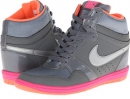Cool Grey/Hyper Pink/Bright Mango/Metallic Silver Nike Force Sky High Sneaker Wedge for Women (Size 5.5)