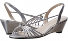 Silver Metallic Caparros Margarita for Women (Size 8.5)