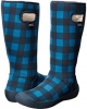 Petrol Blue/Black/Black Bogs Summit Buffalo Plaid for Women (Size 7)