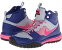 Deep Royal Blue/Light Magnet Grey/Black/Hyper Pink Nike Dual Fusion Hills Mid for Women (Size 5.5)