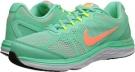 Green Glow/White/Volt/Bright Mango Nike Dual Fusion Run 3 for Women (Size 5.5)