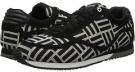 Just Cavalli Geometric Pattern Fabric Low-Top Sneaker Size 6