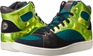 Just Cavalli Zig-Zag Mesh Fabric Hi-Top Sneaker Size 6