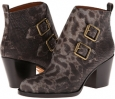 Snake Printed Buckle Boot Women's 7