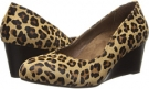 Tan Leopard VIONIC with Orthaheel Technology Antonia Mid Wedge Pump for Women (Size 7)