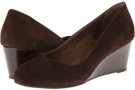 Dark Brown VIONIC with Orthaheel Technology Antonia Mid Wedge Pump for Women (Size 7)