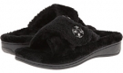 Black VIONIC with Orthaheel Technology Relax Luxe Slipper for Women (Size 7)