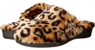 Tan Leopard VIONIC with Orthaheel Technology Gemma Luxe Slipper for Women (Size 7)