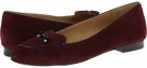 Merlot Kid Suede/Black Faux Patent Piping and Bow Trotters Cheyenne for Women (Size 9.5)