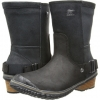 Black/Oxford Tan SOREL Slimshortie for Women (Size 8)