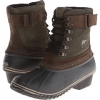Peatmoss/Black SOREL Winter Fancy Lace II for Women (Size 9.5)