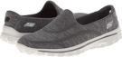 Charcoal SKECHERS Performance Go Walk 2 - Supersock for Women (Size 5)
