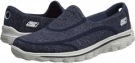 Navy/Gray SKECHERS Performance Go Walk 2 - Supersock for Women (Size 5)