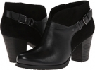Black Leather/Black Suede Clarks England Mission Parker for Women (Size 5.5)