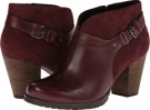Burgundy Leather/Burgundy Suede Clarks England Mission Parker for Women (Size 5.5)