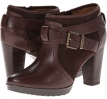 Dark Brown Leather Clarks England Lida Dallas for Women (Size 5.5)
