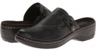 Black Tumbled Leather Clarks England Hayla Sage for Women (Size 5.5)