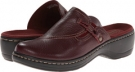 Burgundy Tumbled Leather Clarks England Hayla Sage for Women (Size 5.5)