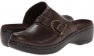 Brown Leather Clarks England Hayla Titan for Women (Size 5.5)