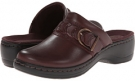 Burgundy Leather Clarks England Hayla Titan for Women (Size 5.5)