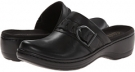 Black Leather Clarks England Hayla Titan for Women (Size 5.5)