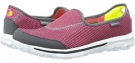 Charcoal/Pink SKECHERS Performance Go Walk - Rival for Women (Size 5)