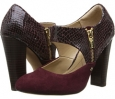 Bordo Red King Suede/Snake Print Isola Tace for Women (Size 7)
