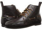 Dark Brown Smooth Pull Up Polo Ralph Lauren Barrott for Men (Size 10.5)