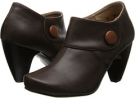 Dark Brown/ Cognac Leather Gabriella Rocha Indy Button for Women (Size 5.5)